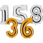 Globos con forma de números pequeños