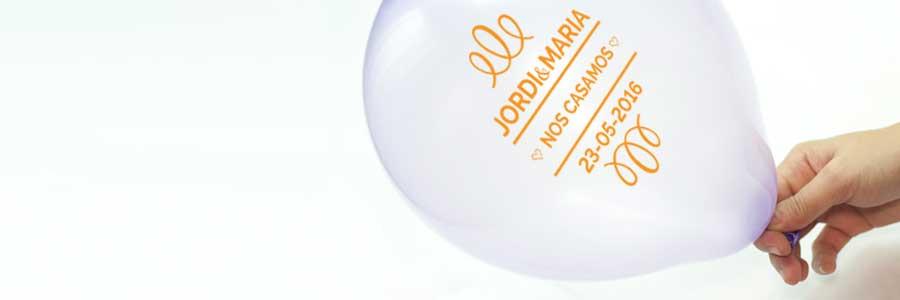 invitaciones de boda con globos