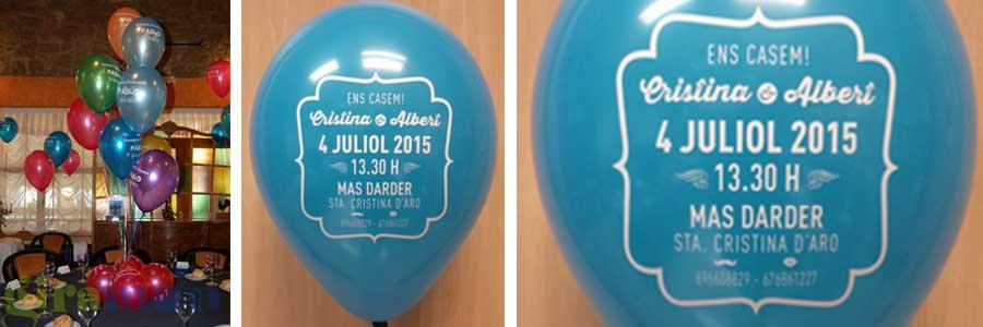 decortaciones bodas bautizos comuniones con globos personalizados