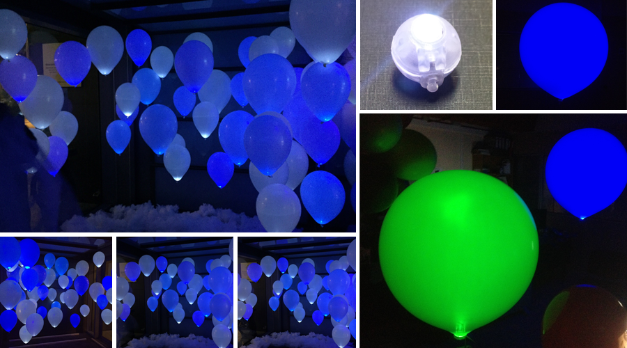 decoraciones con globos led